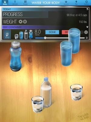 Screenshot Water Your Body Lite on iPad
