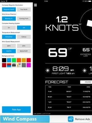 Screenshot Wind Compass on iPad