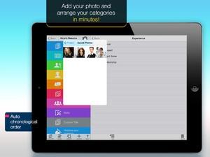 Screenshot Resume Mobile Pro on iPad