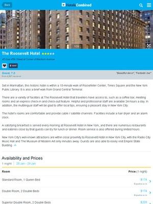 Screenshot HotelsCombined on iPad