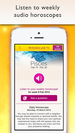 Screenshot Psychics Live TV on iPhone