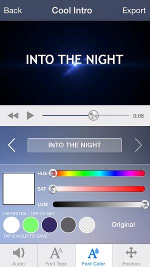 Screenshot Intro Designer Lite on iPhone
