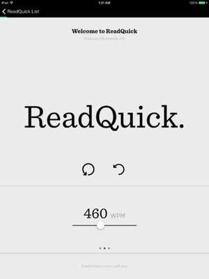Screenshot ReadQuick on iPad