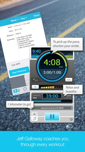 Screenshot Half Marathon with Jeff Galloway on iPhone