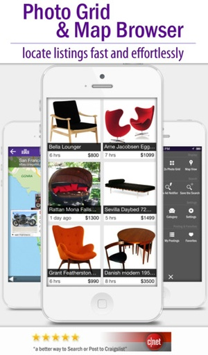 Screenshot cPro Craigslist client  on iPhone