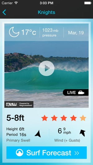 Screenshot Surf Cams and Reports for Australia on iPhone