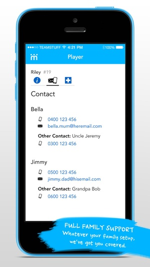 Screenshot Teamstuff on iPhone