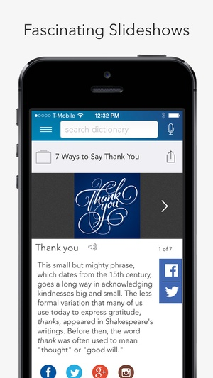 Screenshot Dictionary.com Dictionary & Thesaurus Premium on iPhone