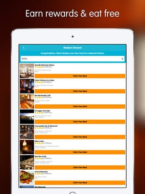 Screenshot Dimmi: Reserve the moment (online restaurant reservations) on iPad