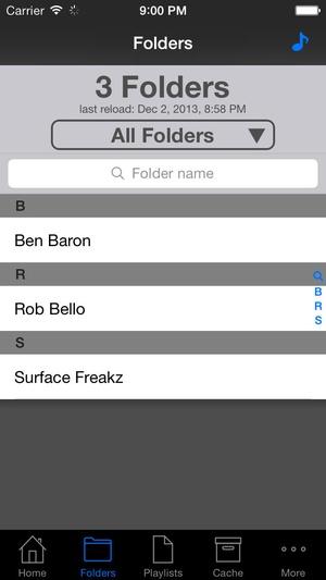Screenshot iSub Music Streamer on iPhone