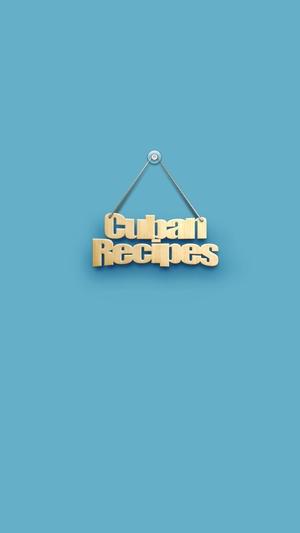 Screenshot cubansRecpes on iPhone