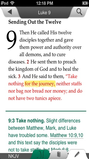 Screenshot MacArthur Daily Bible on iPhone