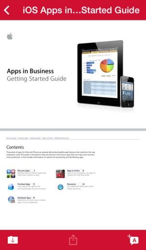 Screenshot MobileIron Mobile@Work™ Client on iPhone