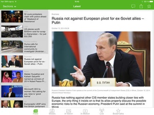 Screenshot RT News English on iPad