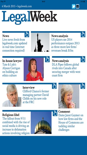 Screenshot Legal Week on iPhone