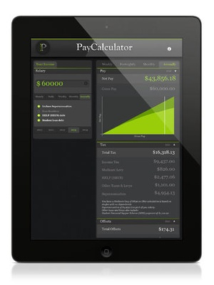 Screenshot PayCalculator on iPad