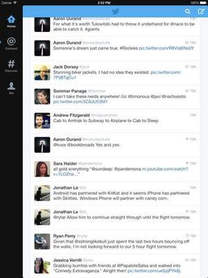 Screenshot Twitter on iPad