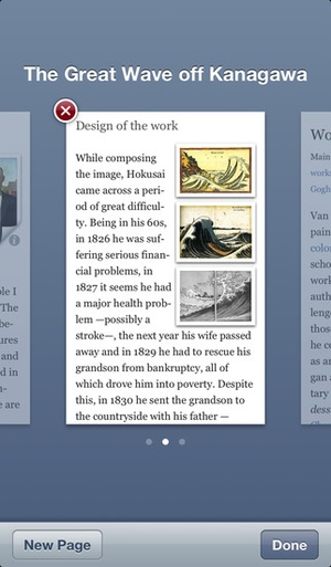 Screenshot Articles for iPhone on iPhone