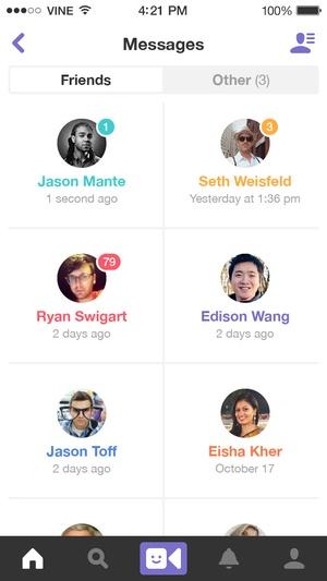 Screenshot Vine on iPhone
