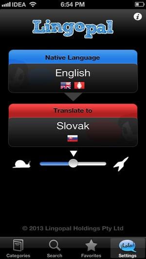 Screenshot Lingopal Slovak on iPhone
