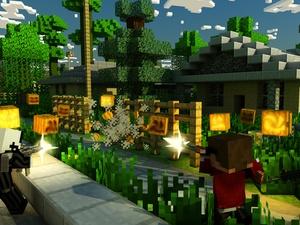 Screenshot Block Combat Pumpkin Shooter Survival Mine Mini Game with skins exporter for minecraft on iPad