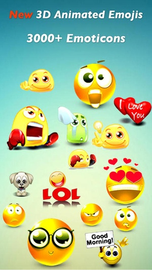 Screenshot 3D Animated Emoji PRO + Emoticons on iPhone