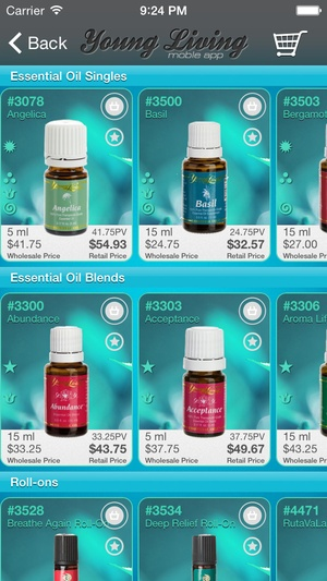 Screenshot Young Living Mobile App on iPhone
