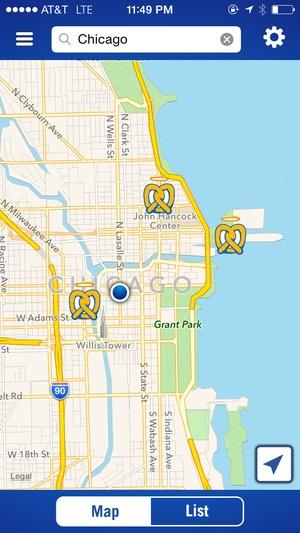 Screenshot Auntie Anne's Pretzel Perks on iPhone
