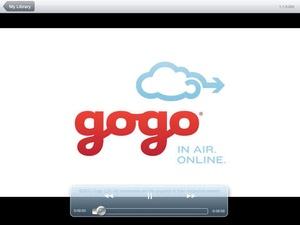 Screenshot Gogo Entertainment on iPad