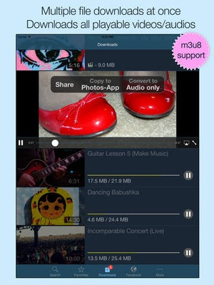 Screenshot VideoGet for Facebook on iPad