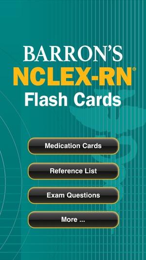 Screenshot Barron's NCLEX on iPhone