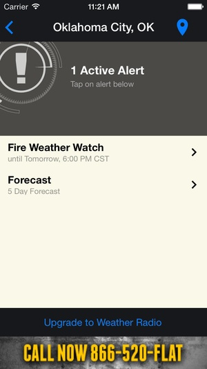 Screenshot News 9 Weather on iPhone
