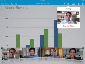 Screenshot Cisco WebEx Meetings on iPad