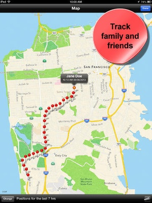Screenshot Phone Tracker for iPhones (Follow your friends with your phone and GPS) on iPad