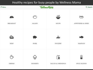 Screenshot Wellness Mama Recipes on iPad
