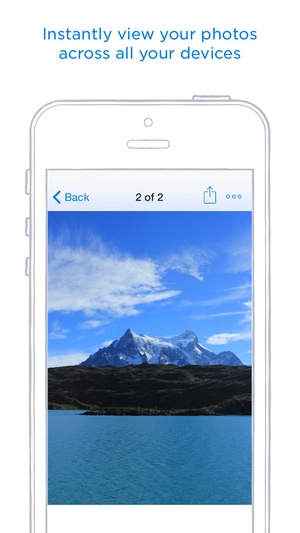 Screenshot Dropbox on iPhone