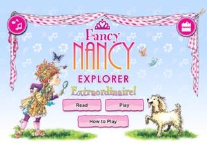 Screenshot Fancy Nancy Explorer Extraordinaire on iPad