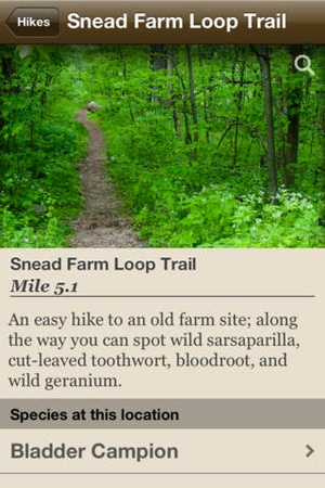 Screenshot Wildflowers of Shenandoah National Park on iPhone