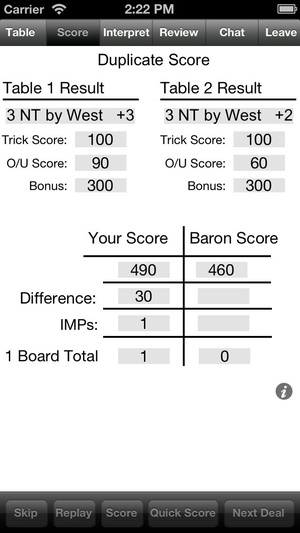 Screenshot Bridge Baron on iPhone