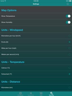 Screenshot Wind Seeker: 3D Augmented Reality Wind Visualizer on iPad