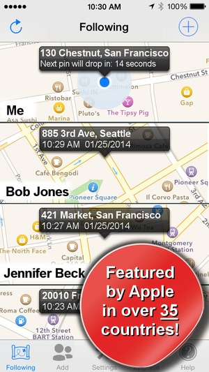 Screenshot Phone Tracker for iPhones (Follow your friends with your phone and GPS) on iPhone