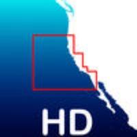 Aqua Map California HD