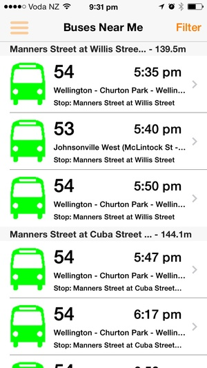 Screenshot Bus on iPhone