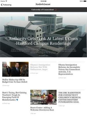 Screenshot Hartford Courant on iPad