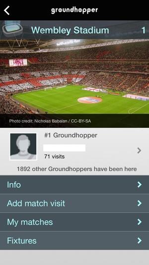 Screenshot Groundhopper on iPhone