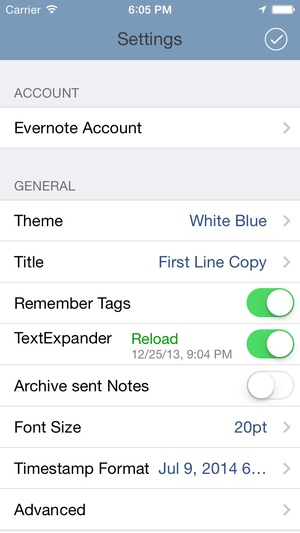 Screenshot SnapEntry on iPhone