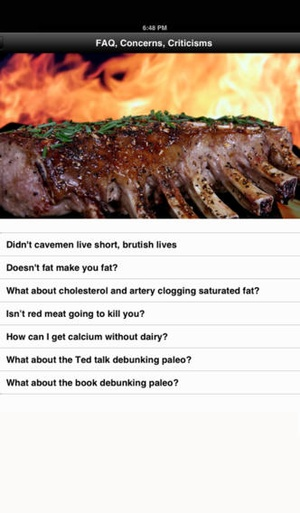 Screenshot A Beginner's Guide to Paleo on iPhone