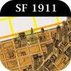 1911 San Francisco Map Lost City