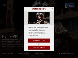 Screenshot Digital Theatre: The best of British theatre available to the world on iPad