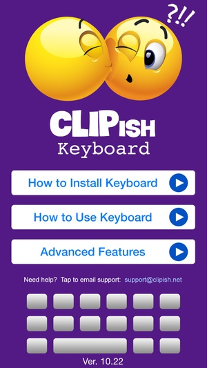 Screenshot CLIPish Keyboard  on iPhone